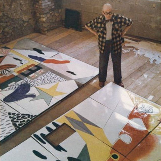 That elegant rascal Le Corbusier in his studio #monday #work #AllSwell