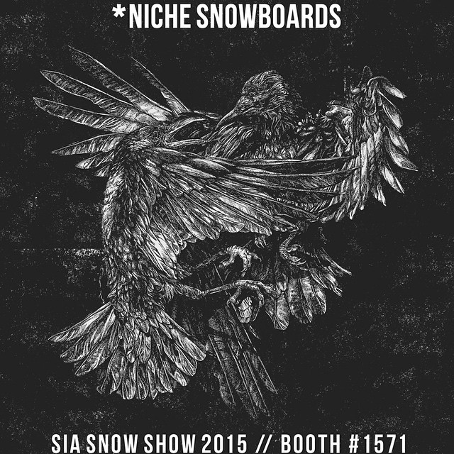 #SIA15 here we come! Enjoy this graphic sneak peak - we'll be posting more throughout the week. Stop by booth 1571 at the show for a full rundown on the new line of #nichesnowboards!