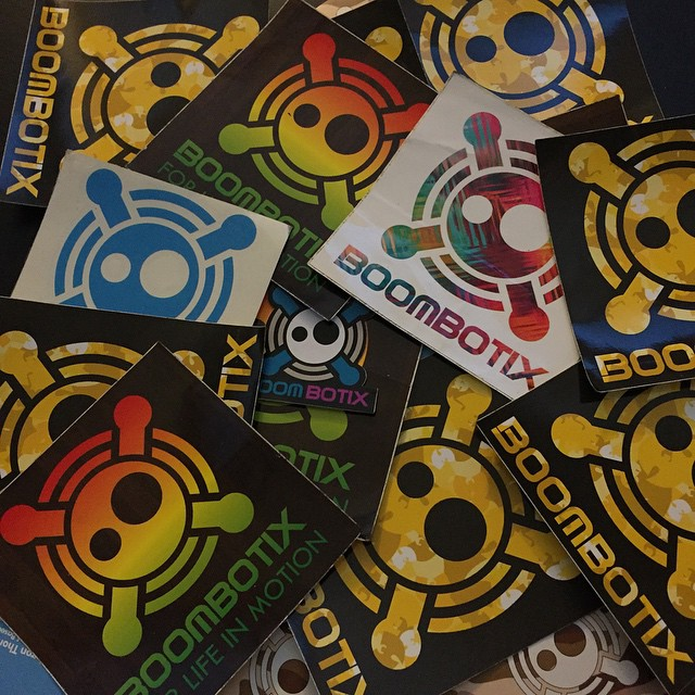 Sticker packs are available online at #boombotix #dotcom #wutang #rasta #decals
