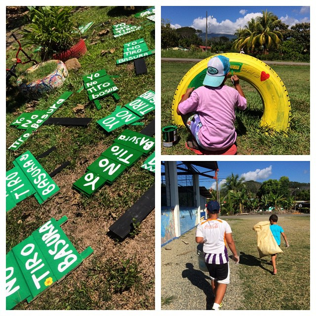 What a beautiful day in Bahia Ballena! We were stoked to see 30+ people come out for the World Environmental Education Day event; everyone worked together to do a trash cleanup, make some anti-litter signs, clean the existing garbage cans, and beautify...
