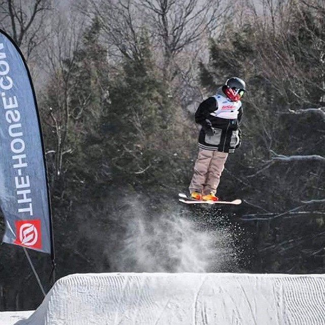 Jamaican skier Luke-jay Phillips getting some air time @usasa_snow #forthefew #skiing #boskyoptics