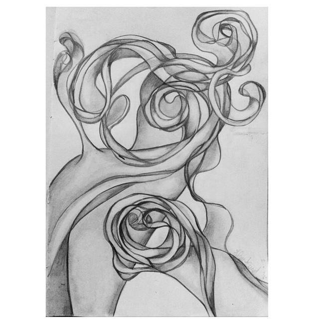 ¿Retorcida? ¿Quién? #dibujo #draw #inspiracion #nocturna #arte #art #enriedo #loca #mad #instaart #instanight #GoodNight