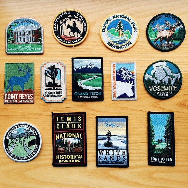 Our friend Jon @thevanman is acquiring an impressive #radparks patch collection on his journey across the US with @she_explores!