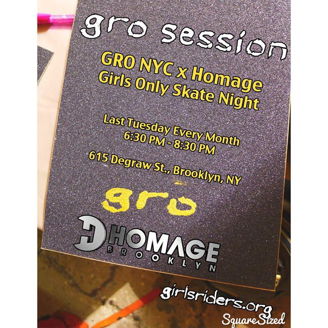 Tonight NYC GRO @homage_brooklyn girls only session.