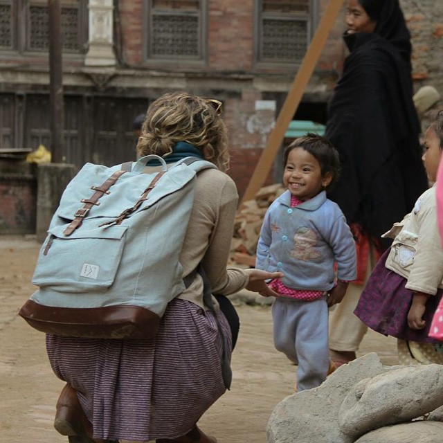 Sometimes it's the littlest ones that make the biggest impact #connectglobally #estwst #organic #chambray #sustainablestreetwear #backpack #rucksack #fair