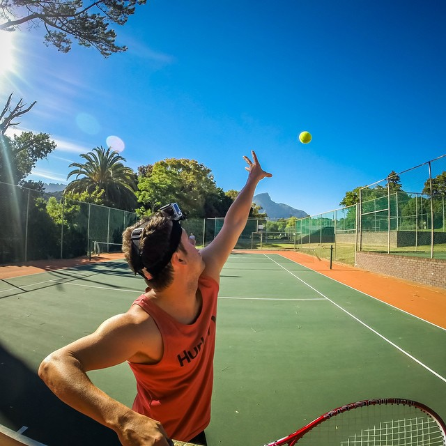 Photo of the Day! Love - love. @jasonsteel11 gets his serve on. Photo by @kyle_n_lord.