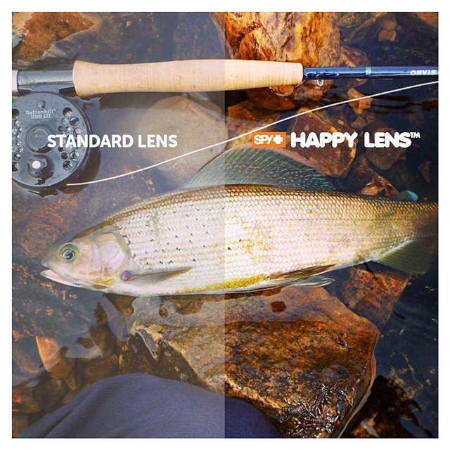 Have you tried the #HappyLens while #fishing?  The Happy Lens offers superior #color and contrast enhancement that helps you #SeeFishBetter, providing unrivaled performance in any type of fishing conditions when paired with our #polarized spectra lens...