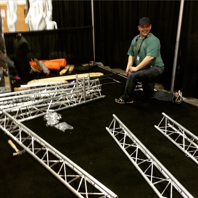 Having a blast setting up our booth for #sia15. Don't forget to stop by booth 1034. #sia