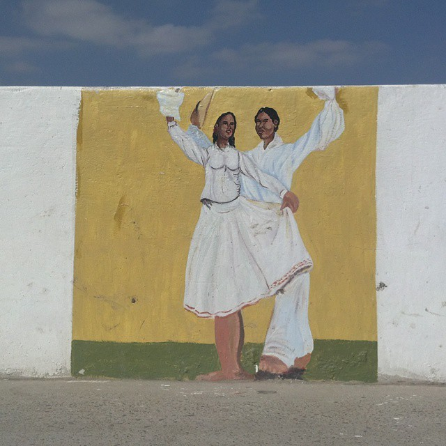 Recent statistics from northern Peru reveal that 30% of young people complete middle school. Not something to dance #marinera about, as seen in the #streetart here from #Piura, but rather motivation for WAVES Peru to keep offering the ongoing education...