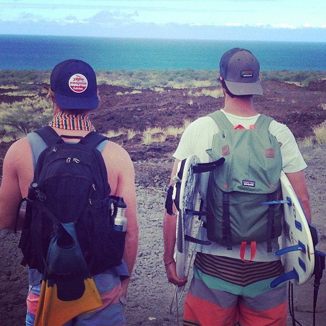 Lava field adventures on the Big Island. #pataAloha @patagonia_haleiwa