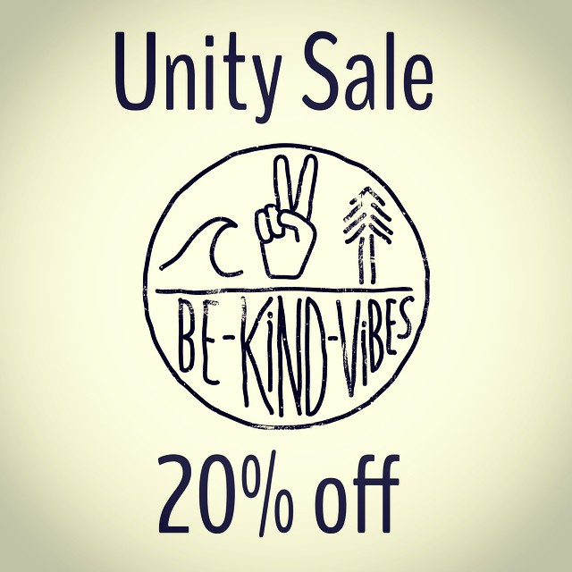 "We're having a sale over in our online shop! 20% off your entire order with checkout code ""unity"". Sale runs until tomorrow at midnight PST •• Follow the link in our profile to shop our consciously crafted apparel. Become a part of our growing Tribe,..."
