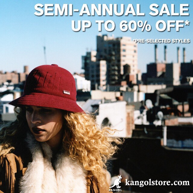Semi-Annual Sale:: Up to 60% Off Select Styles #kangol (Link in the bio☝️)