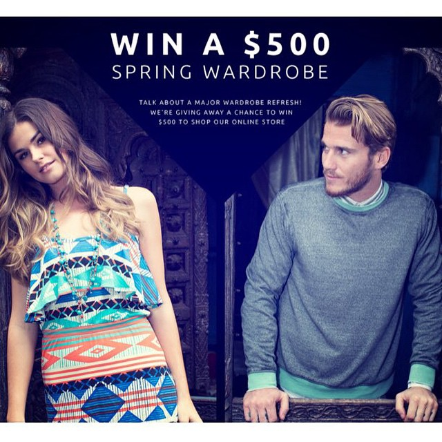 Want to #win a $500 #spring wardrobe? Yeah, we thought so. Link in our bio. #contest #humpday #treat #entertain #treatyoself #winning #winner