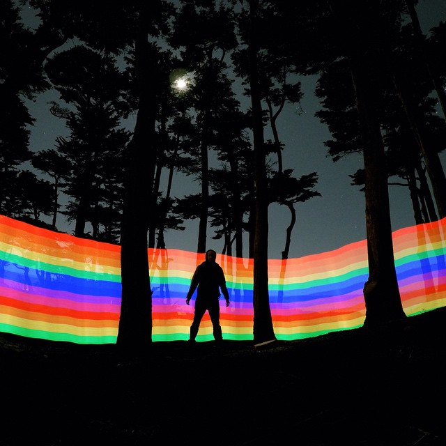 Photo of the Day! Rainbow-tastic. Photo by @cinecuster, who used a Pixel Stick and the GoPro App to get the shot. Camera settings: 30 second exposure at ISO 800.