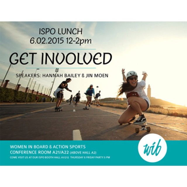 @womeninboardandactionsports Annual @ispo luncheon confirmed! Friday, February 6th at 12pm. We're going, are you? This year we're stronger than ever.  Go to the #WIB Facebook fan page or ours to get tickets & spread the news!  Flyer photo by...