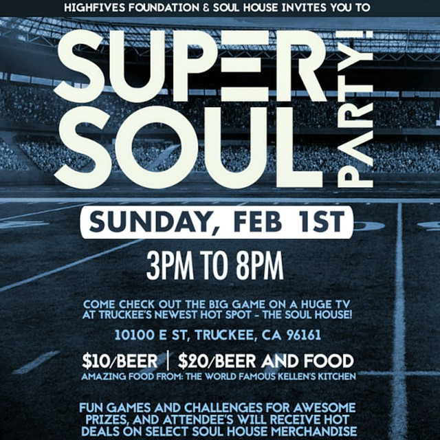 Join us! @soulhouseproject @crj_healingctr #SB49 #SuperBowl #FoodDrinksFootball