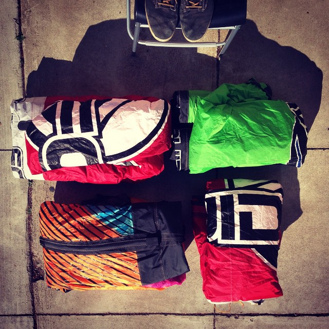 Thanks @fcdsurfboards for sending these old @liquidforcekiteboarding . This is raw material for our next set of #mafiabags . @jasonslezak