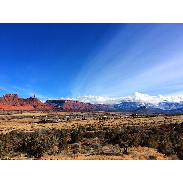 Gotta love the desert in the winter! Such drastic colors!! ❤️