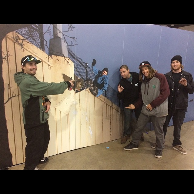 #SIA #denver - so stoked on @nial_romanek wall on the @inicooperative booth! #anNIALator #forridersbyriders #handmadelaketahoe