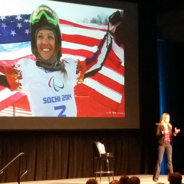 Inspired by @amypurdygurl climbing her personal mountain as a double amputee, building a nonprofit,  and not only bringing adaptive # snowboarding to the Para Olympics, but getting on the podium. #sia15 #sisterhoodofshred