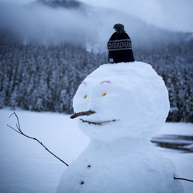 Snowmen don't mess around when it comes to protecting their domes from the harsh elements. #distinctindividual #disidual #breathefreshair. ⠀ Joffre Lake, British Columbia. Photo: @stephenskis
