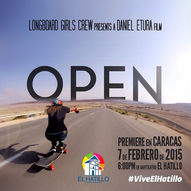 New OPEN premiere! Venezuela it's your turn! Join @jackymadenfrost, @chus_asensio & more LGC #Venezuela riders on February 7 in @alcaldiaelhatillo, Caracas. So stoked on this!  #longboardgirlscrew #lgcopen #girlswhoshred #viveelhatillo