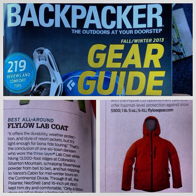 "The new Lab Coat was just named ""Best all-around"" Hardshell by Backpacker Magazine!  We are honored. #neoshell"