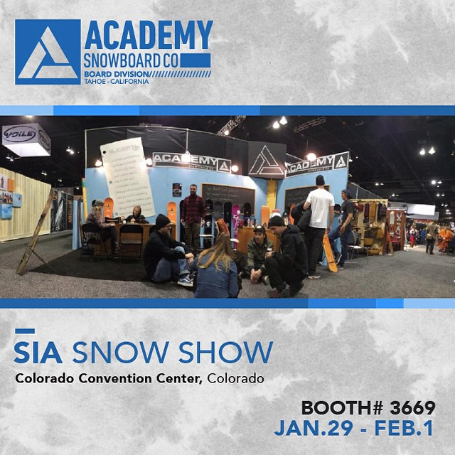 If your at SIA make sure to swing by booth #3669 and check out the new goods! #academysnowboards #byrodersforriders #dontbuyfromaskicompany