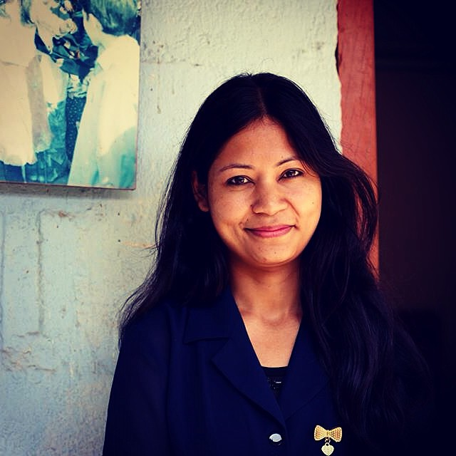"Meet Anupama, business coordinator: ""I'm very touched by the hard work and loyalty the women put into their work. Also, I've never once seen them have any negative attitude, despite their background, they're always positive."" #connectglobally #estwst..."