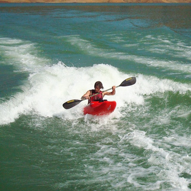 Throwin' it back to throwin it down on a wave being thrown by two parallel @centurionboats, at @theduncan775's 2008 bachelor party on #LakeShasta!  #TBT | RadFind | #ChoosePositivityNow.com