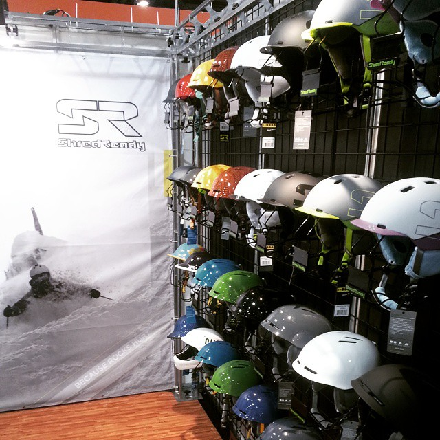 In Denver?  We are at #SIA Booth 2650! #cuzrockshurt #helmetsarecool