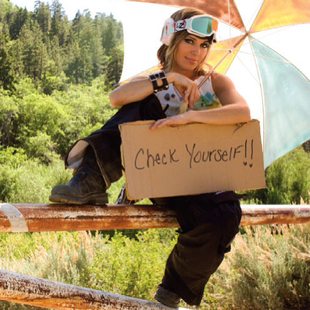 """#TBT to this 2008 @VonZipper x B4BC ad featuring iconic #snowboarder @TaraDakides reminding you to #checkonetwo! From Tara: """"I'm proud to be part of the something that spreads a powerful message about saving lives. Every time there is a B4BC tent..."""