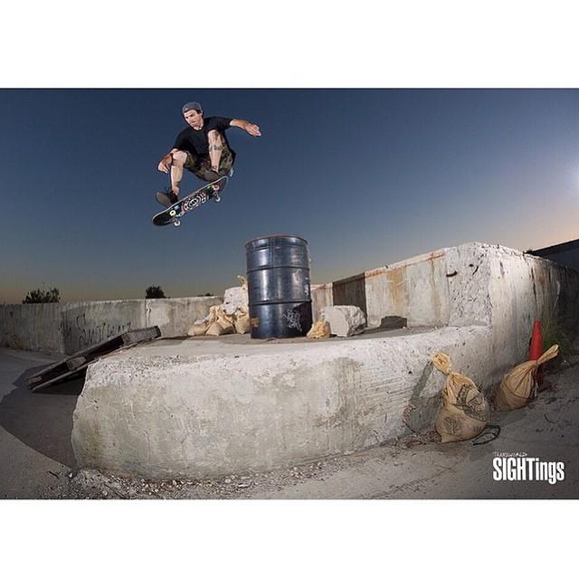 Trademark @mark_appleyard flick to catch. Kickflip to palate shot by @mikeomeally @transworldskate