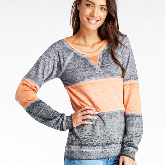 Sweatshirts are the comfort food of clothing. Update your collection. #sweats #stripes #burnout #sustainable #jersey #denim #casual #outfit #ideas