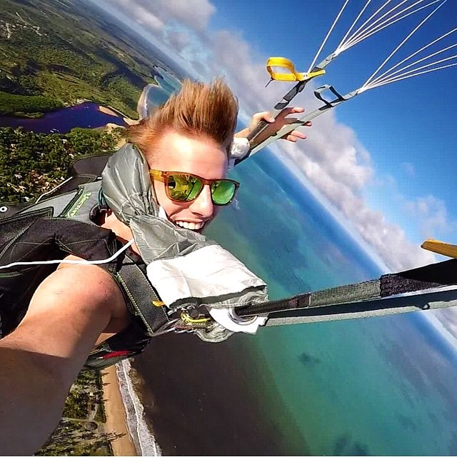 Flying high with @theorohlfs - Could you do this?! He's wearing the Sahara Triple Set, which is perfect since its polarized! #kameleonz #lifesabeach #thisismybeach #gopro #selfie #goorooftheday #goprouniverse #skydive #skydiving - Kameleonz.com