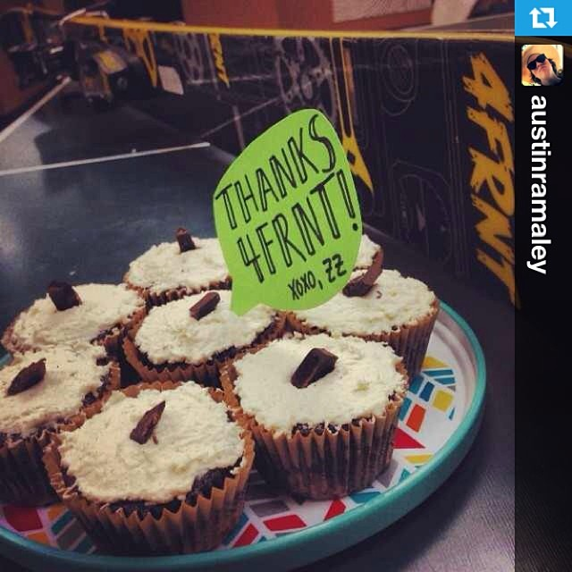 @littleroots loved the #devastator so much she baked us some vegan cupcakes. #girlswhoshred Thanks Zoë!