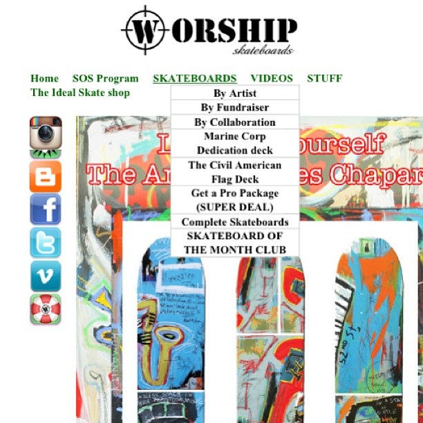 For those that take action:  Go to worshipskateboards.com Click that skateboard of the Month tab, under SKATEBOARDS  Then pony up and Subscribe....... Bimonthly-(6 decks) only $299 Monthly-(12 decks) only $550 So it's like a magazine... Subscribe and a...