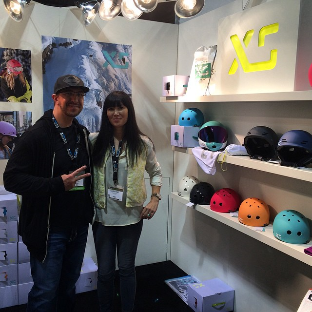 Thanks @hardbodynews for stopping by! #SIA15 #xshelmets #forgirlswhoshred #skatebikeboardski