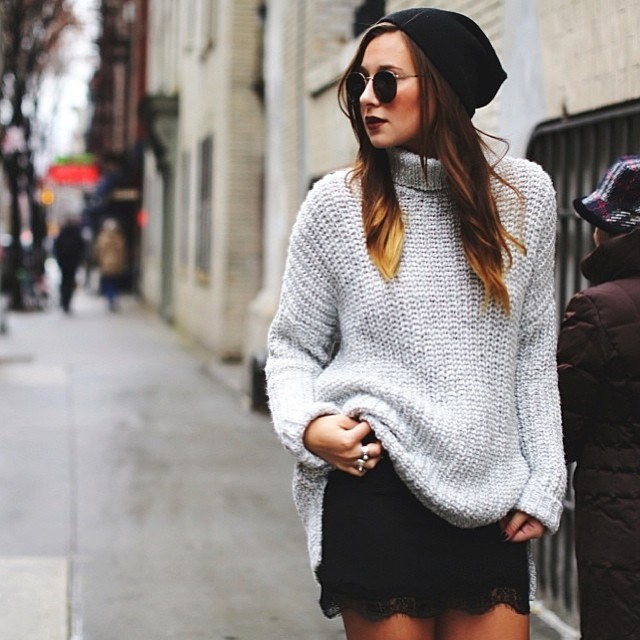 Knit and Lace with Danielle in the FLT beanie. Check out the full spread at @weworewhat.