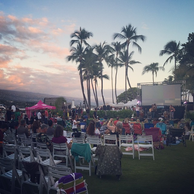 #palmtrees #sunsets and #ocean front at #KSFF. Stop by the #Organik booth for deals on #ecofriendly #natural #organic #tees #madeinusa #kona #hawaii