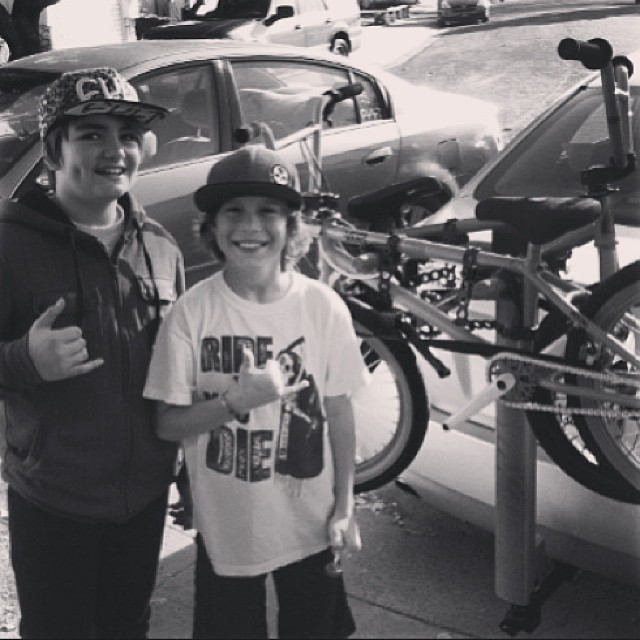 Team rider @Ryanslusher and the homie @tryonbmx on their way to the @younggunsbmxtour! Two of the 6 six kids selected as part of this Grom #bmx tour around #SoCal with @dustingrice and many other pros! Go give them all a follow!