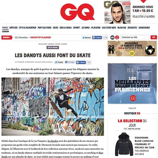 @lotfiwoodwalker was featured on #GQ Magazine #France! #fancypants #drummerboy #MrGQ #LesDandys