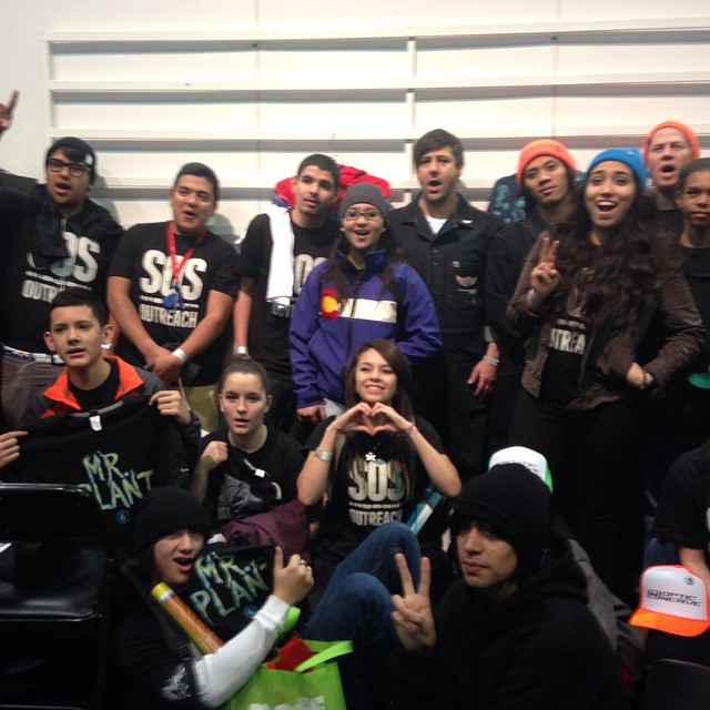 Thanks @volcomsnow for talking to our youth about the snow sports industry! And for the sweet tshirts #inspireyouth #sia15
