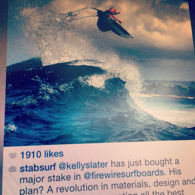 @KellySlater boosts himself into the limelight again, but this time it's for putting in an offer to buy @firewiresurfboards --- Why, you ask? Premium environmental & tech performance (as validated by our ECOBOARD Project program) seems to be the key !...