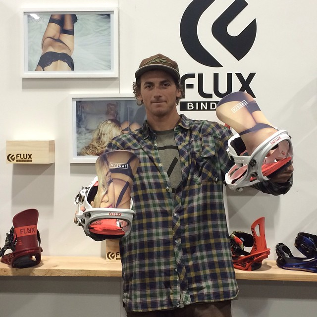 Team rider @_justinmulford dropped by the Flux booth at #sia15 in Denver to check out the new 2015/16 collaboration bindings with V/SUAL and @vanstyles that will be dropping next Fall. #flux #snowboard #sia #fluxbindings #snowboarding ❄️