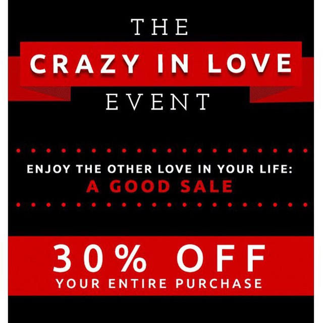 Spread the love. #Saturdaynight #shopping #sale #happeningnow #love #weekend