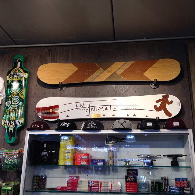 Visited shops in Denver before the #SIA15 trade show. Spotted a #loadedsnow #algernon at @boardlifeusa. Follow us @loadedsnow
