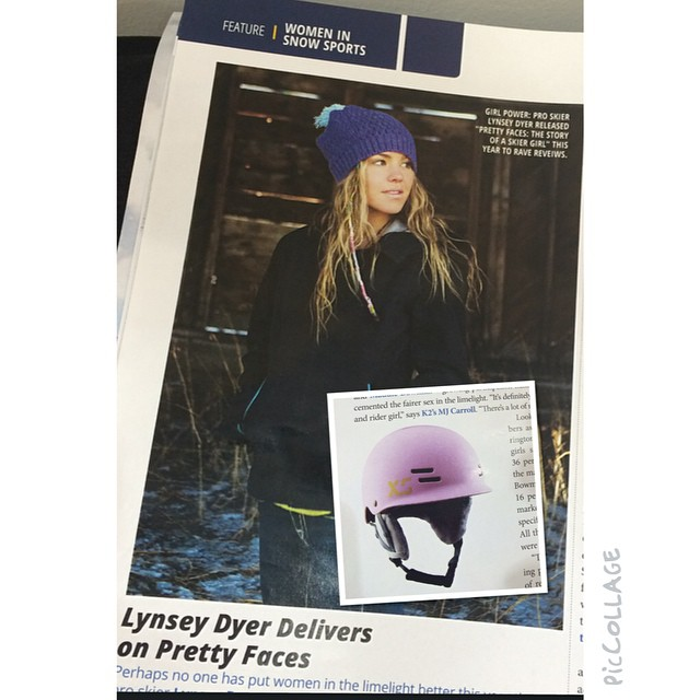 Stoked to wake up to some love for women in the industry in the @siasnowsports Snow Show Daily Day 4! #visibility #inspiration #forgirlswhoshred #xshelmets #sia15 @lynseydyer @prettyfacesmovie