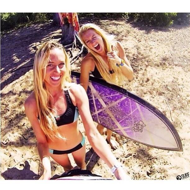 @shannonquirk and @emilybates11 on their #ultimate #bikiniadventure in #hawaii for the #triplecrown of #surfing. #tag your #bikiniadventure @odinasurf and @thesurfchannel to be entered to win a #2014 #Odina #bikini! #winner will be #announced with the...