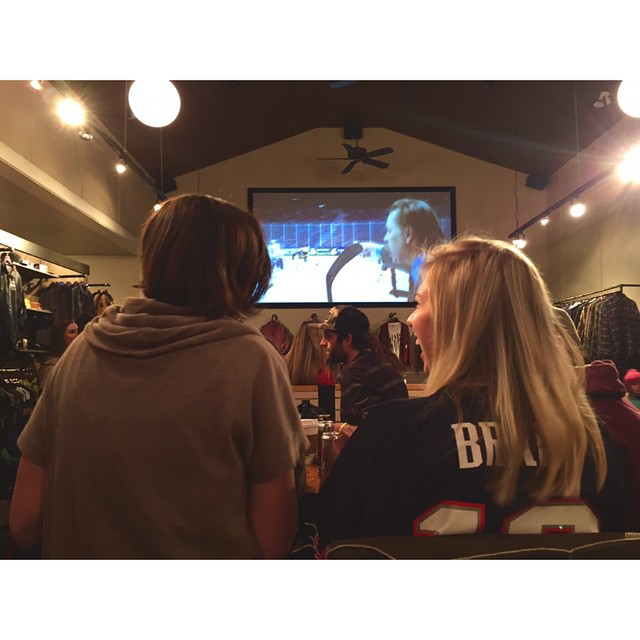 It's all smiles here at @soulhouseproject! #SB49 #superbowl